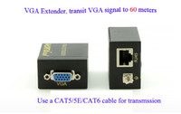 adapter control network - High Definition x1080 HD VGA Extender Over M Cat5e Network Cable Sender Receiver VGA Adapter for remote control system