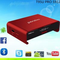 Wholesale Android TV Box Amlogic S912 Octa core GB GB Android TV Box Pendoo T95U PRO WiFi G G Kodi Fully Load H K