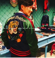 baseball dance costumes - singer men costume dance performance show party nightclub bar tiger flower letter embroidered jacket with thick baseball jacket