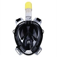 Wholesale wimming Diving Diving Masks Hotsale Diving Mask Underwater Breathing Tube Water Sport Full Dry Snorkeling Swimming Training Scuba Anti Fo