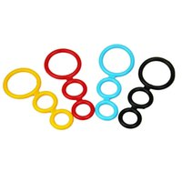 Wholesale Colorful Male Silicone Three Rings Bondage Gear Delay Penis Ring Restraints Cockrings Adult Sex Toys For Couples Men ZA2200