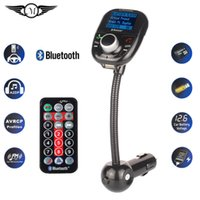 Wholesale Universal Wireless Car MP3 Audio Player Bluetooth FM Transmitter With Remote Control HandsFree LCD Screen USB Charger