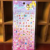 Wholesale Fashion Cartoon Children Nail sticker Sofia Cat Snow White Princess Girls up Party gift Kids stickers C267