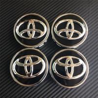Wholesale DHL mm GOOD QUALITY chrome black wheel center caps hub cover car badges emblemn for toyota COROLLA RAV4 LEVIN