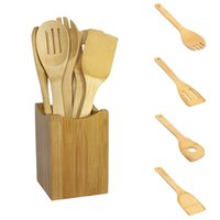 bamboo cooking utensils set - 2017 New Bamboo Spoon Spatula Kitchen Utensil Wooden Cooking Tool Mixing Set Pieces