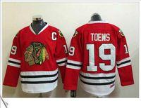 achat en gros de patches pour chandails-# 19 Jonathan Toews C patch broderie brodée Rouge Accueil Chicago Blackhawks hommes sportifs Ice Hockey Sweater équipe Pro Team Maillots Taille M-XXXL