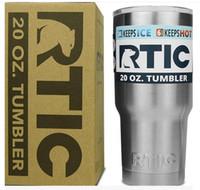 al por mayor refrigeración por agua llevado-DHL libera RTIC tazas Copas del vaso tazas del coche Acero inoxidable sostenido como tazas del YT 30oz 20oz Refrigerador más fresco de las botellas de agua del aislamiento de la bicapa Tazas