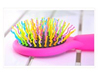 amazing hair brush - DHL Eyecandy Eye candy Rainbow Volume comb amazing S waved brush for you hair care Hair Care Combs