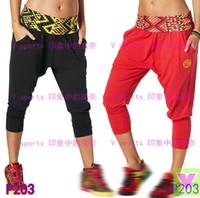 Wholesale Women Pants Yoga fitness dance running sportswear female loose capris Casual pants P203