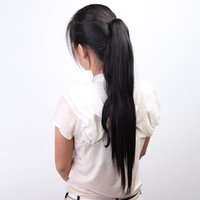 Wholesale Fashion Women Hairpiece Long Big Horsetail Hair Extension Straight hair Straight Make Up Ponytail Synthetic Fibers Periwig Colors