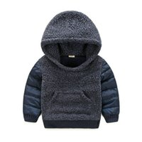 Wholesale Winter Children Warm Vest With Cotton Velvet Suit Children Thicker Cotton Jacket Small Children Down Jacket