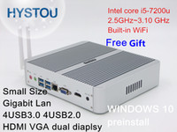 aluminum gaming case - Aluminum Alloy case good Configuration Gaming PC Intel Core i5 U Fanless Mini PC Windows Gigabit LAN HDMI VGA M WiFi Antennas