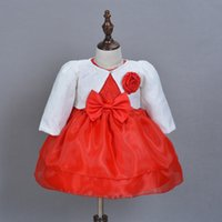 Wholesale Factory Outlet Baby Girl Dress tutu dress year girl baby birthday dresses Newborn Girl Christening Gown Lace Hot Red Baptism Dress