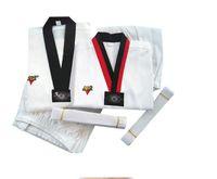 adult karate uniform - 2017 Adults Kids Boys Girls Taekwondo Dobok Karate Uniforms Sanda Clothes Sets DPBO