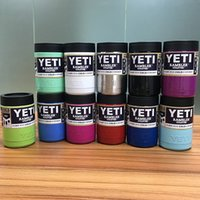 beer cans - 11 colors oz Colster can Yeti cups Coolers Rambler Colster YETI Cars Beer Mug Insulated Koozie oz Cups in Stock DHL shipping