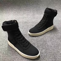 Wholesale Christmas Fear Of God High Shoes FOG Black And White Military Boots High Street Boot Selling