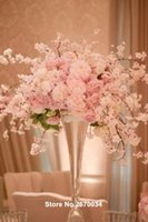 Wholesale wedding stage decoration party mental wedding floor stand walkway pillar aisle stand for wedding
