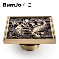 Wholesale New style Two Fish Design Brass Material Floor Drain with Anti smelly Function