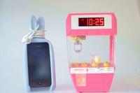 Alarm Clocks alarm clock machine - 2016 Hot Sale Mini Electric crane Claw machine Catcher Doll Candy ball alarm clock with Digital LED with FSWOB