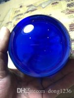 Vrey Beautiful Verre à quartz Bleu Magic Crystal Healing Ball Sphere 100m + Stand