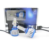 al por mayor conversión h11-Bombillas LED para faros delanteros de automóviles T1 H11 H1 H7 H3 HB3 / 9005 HB4 / 9006 880 12V Kit de conversión de luces auto brillante de alto brillo halógeno