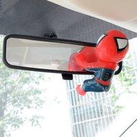 Venta al por mayor-Cute coche espejo parabrisas Spiderman muñeca de succión Cups juguete decorativo apto para A3 X5 VW ect.