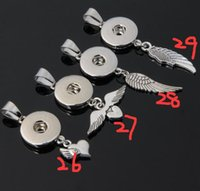 anchor buttons - top hot wings heart starfish palm cross leaf anchor crown snap button noosa button pendant fit mm charm pendnat necklace DIY jewelry