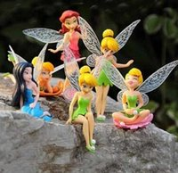 Wholesale 1 High Quality PVC Figure Toy Tinkerbell Fairy Adorable Figures set Action Figures