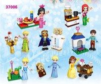 Acheter Serpents blancs-DHL 60set Marvel Elsa Card Running Snake Neige Blanc Ice Princess Figures Modèle Building Blocks Bricks Toys For Children Gift 37006