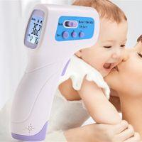 Wholesale DM300 Professionele Digitale LCD Infrarood Thermometer Gun non contact IR Temperatuurmeting Gun Diagnostische tool Apparaat