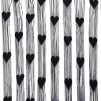 Wholesale LHLL Fringe Rope Heart Screen door curtain Black