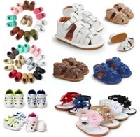 Wholesale 12 pairs many styles for choose Summer first walkers shoes Baby sandals fashion baby shoes Infant girls boys sandals