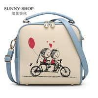 bicycle shopping bag - SUNNY SHOP Summers Cartoon Candy Color Women Bag School Bicycle Girls Shoulder Bags Cute Small Messenger Bags Gifts For Children