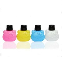 Wholesale Nail Polish Remover Color HolleKitty Bottle ml Plastic Pump Dispenser For Nail Art Polish Makeup Liquid Container Bottle