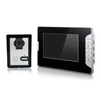 Noche carcasa de la cámara de visión Baratos-XSL-V70E-L con cable de video puerta de teléfono de 7 pulgadas de pantalla en color para villa cámara de visión nocturna infrarroja para la casa privada