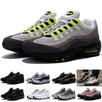 ankle cushion - Men Casual Shoes Max95 Men Retro Cushion Navy Maxes OG Sport Air High Quality Chaussure s Walking Boots Kids shoes Size