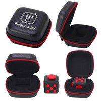 Wholesale Portable Fidget Cube Toys Zipper Case fidget cube bag best selling High Quality zipper case With black colors