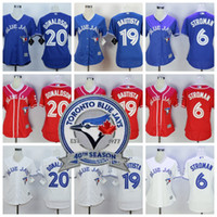 Baseball Girls Short Womens Toronto Blue Jays 40th Patches 6 Marcus Stroman 20 Josh Donaldson 19 Jose Bautista 11 Kevin Pillar lady girls Baseball Jerseys
