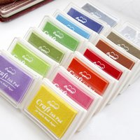 Wholesale DHL Nice cute big craft Ink pad Stamp inkpad set for DIY funny work colors for choice