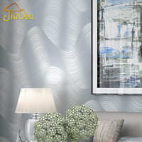 Wholesale Modern Minimalist Embossed Silver Gray Non woven Wallpaper High grade Warm Living Room Bedroom Sofa Background Striped Wallpaper