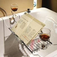 bathtub tray - New Hot Bathroom Bathtub Stainless Steel Caddy Tray with Extending Sides and Wine Candle Holder Reading Rack