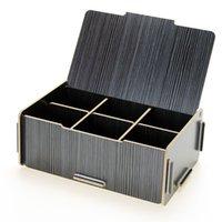 Wholesale 300g The creative wooden storage box box a033 lattice Home Furnishing finishing underwear sundries