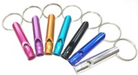 Wholesale Training Top quality Outdoor Aluminium Survival Emergency Whistle Multicolor Hiking Camping Whistle Key Chain