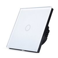 Wholesale EU UK Standard SESOO Touch Switch Gang Way Wall Light Touch Screen Switch Crystal Glass Switch Panel F18545