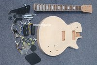 Wholesale New brand electric unfinish guitar kit with all parts and p90