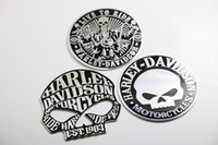 Wholesale 3D Metal cm LIVE TO RIDE Skull Car Motorcycle Emblem Badge Decal Sticker hot