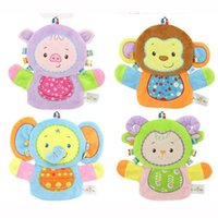 bath mitt puppet - New Baby Sponge Bath Rub Mitt Kids Infants Bath Brush Animals Shape Bushtub Glove Hand Puppets And Bath Towel Bathroom WJ407