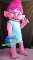 Wholesale Troll poppy Troll mascot Costume Fancy Dress