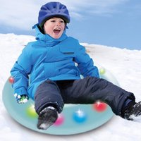 Wholesale LED ski ring Inflatable Sled Snow Tubes for Kids Skiing Thickened Size Circle Snow Water Ski Sledge Tube Winter Outdoor Sport