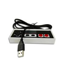 Precio de Pc joystick-Controlador clásico retro del juego del USB atado con alambre para Nintendo NES JoyStick Controle Para la PC de Windows para el Gamepad del MAC